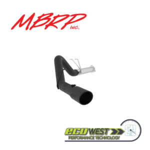 MBRP S6248BLK Black Coated 4 Single Side Exit Filter Back